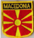 Macedonia Embroidered Flag Patch, style 07.